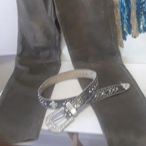 Leather Swarovski Crystal belt